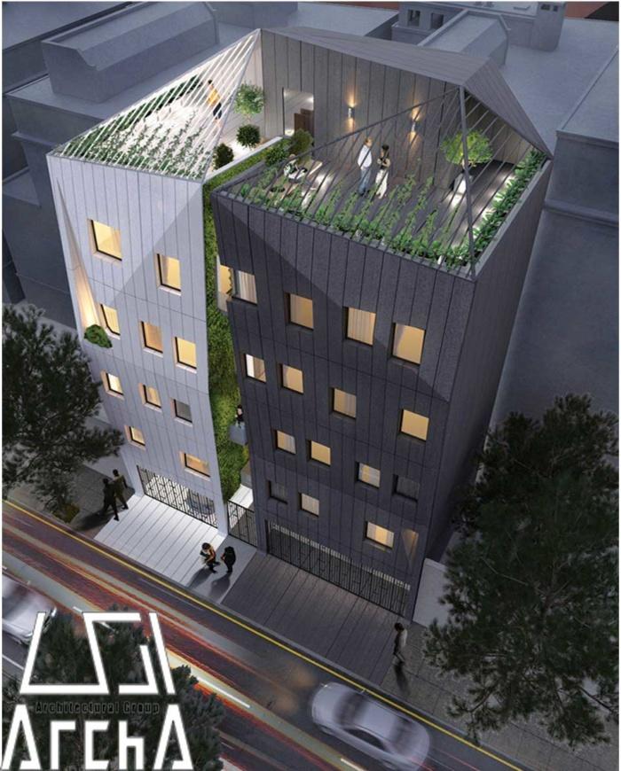 آسمان، طراحی بام بنا را از طراح درخواست می کنند که طبعات آن ارجاع